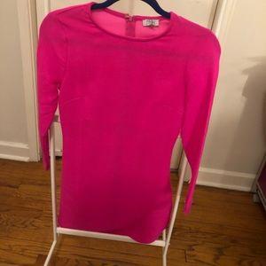 Simple Fuscia Pink Mini Dress